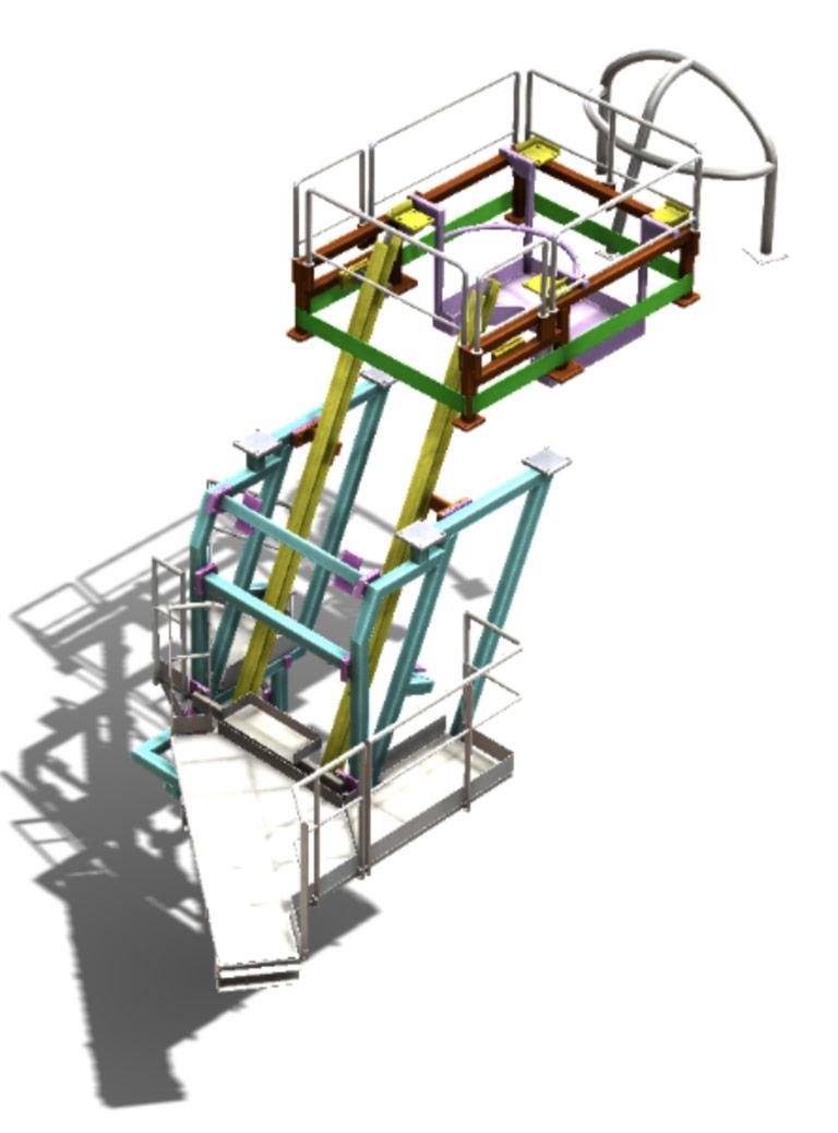 Équipement de montage pour l'introduction d'un Dispositif de mesure EMM fixe